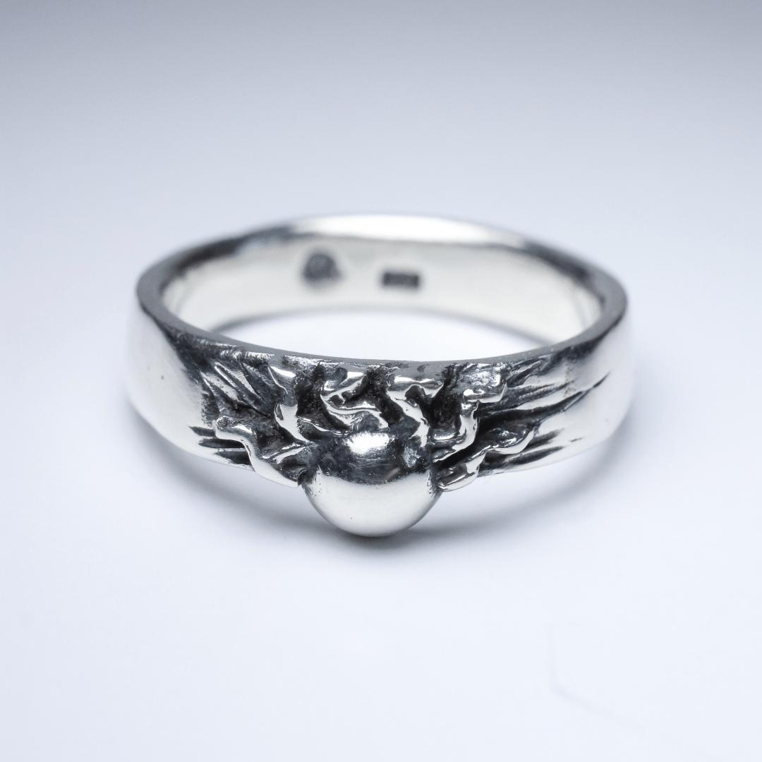 Anel Sun prata 950
