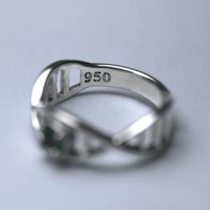 Anel Biomedicina Prata 950