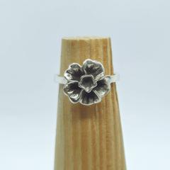 Anel Flor Hibisco Prata 950