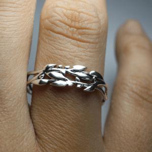 Anel Oliveira prata 950