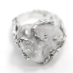 Anel krystallos prata 950