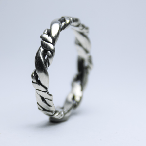 Anel Nordic Rope Prata 950