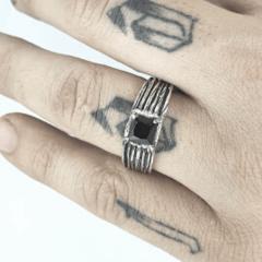 PAR DE Alianças de Compromisso Donnovan prata 950