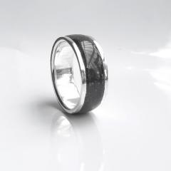 Anel Inlay Turmalina 10mm Prata 950