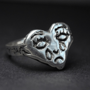 coração que chora prata 950