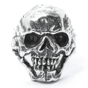 Anel Big Skull Prata 950
