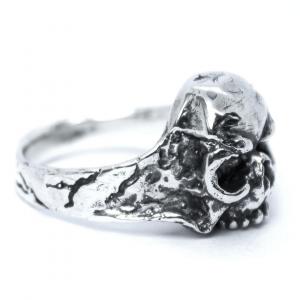 Anel Skull Bone Prata 950