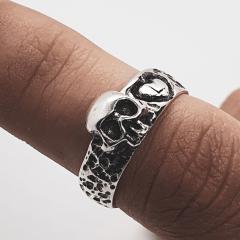 Anel Skull Love Custom Prata 950