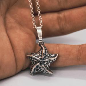 Pingente Estrela do Mar Prata 950